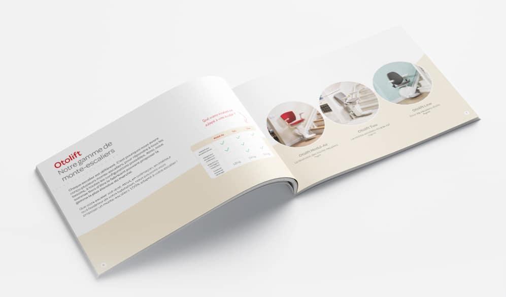 Brochure des monte escaliers Otolift C