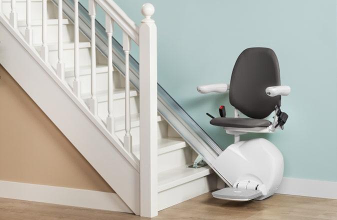 L'Otolift Line a spécialement été conçu pour les escaliers droits.
