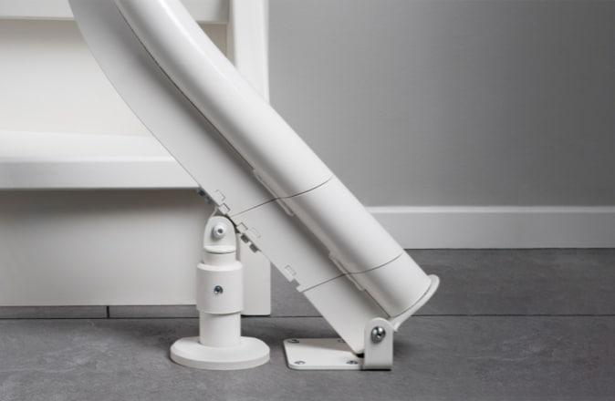 Vu que le monte-escalier est composé de différents modules standards, le Modul-Air convient parfaitement pour la location.