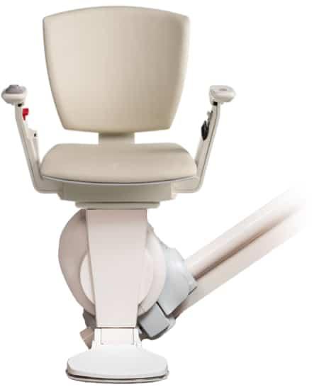 Le monte-escalier Otolift Modul-Air est disponible en blanc perle