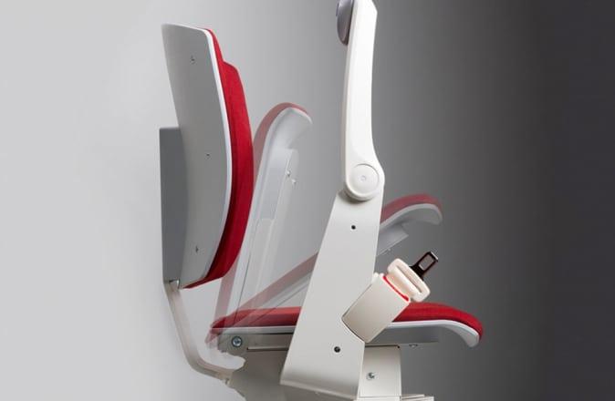 Le Modul-Air compact convient parfaitement aux escaliers étroits.